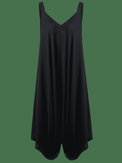 Combinaison en V granulée V grand taille - Noir 4XL Mobile