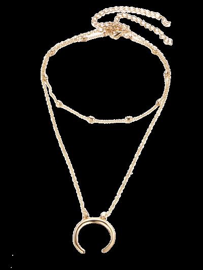 Moon Gypsy Pendant Necklace Set - Dourado