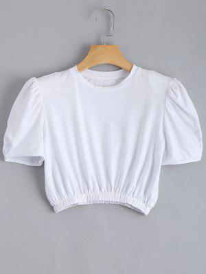 Cuello Acolchado Con Cintura Elástica - Blanco