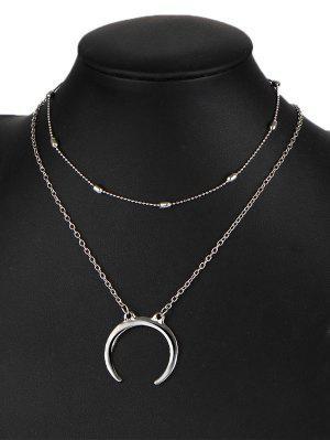 Mond Zigeuner Anhänger Halskette Set