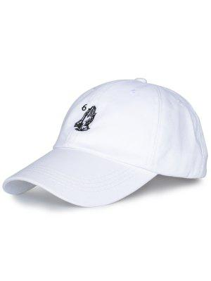 Sombrero de Béisbol Bordado Número de Palmas