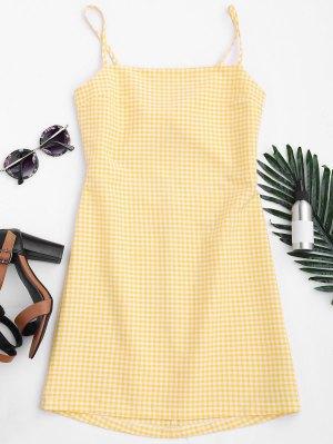 Überprüftes Schleife Ausgeschnitten Mini Kleid