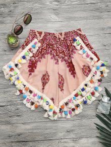 شورت غطاء الشاطئ بوم بوم - متعدد الألوان S