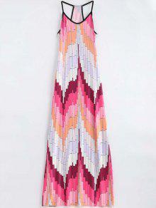 Geometric Print Cami Maxi Dress - Multi S
