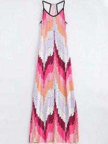Geometric Print Cami Maxi Dress - Multi M