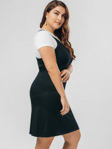 Two tone dress for plus sizes