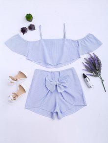 Gestreiftes Cami Top Und Shorts Anzug - Streifen  L