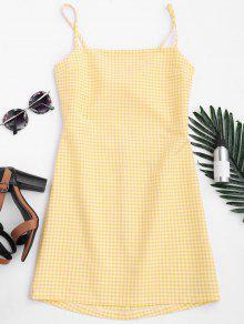 فستان ذو مربعات بونوت قطع مصغر - التحقق Xl