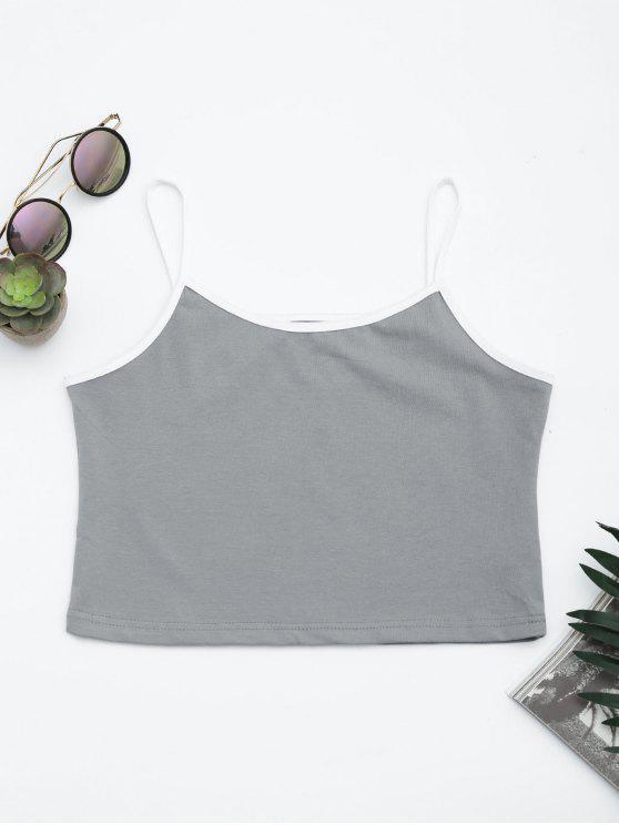 Algodón bloque de color recortada camiseta - Gris S