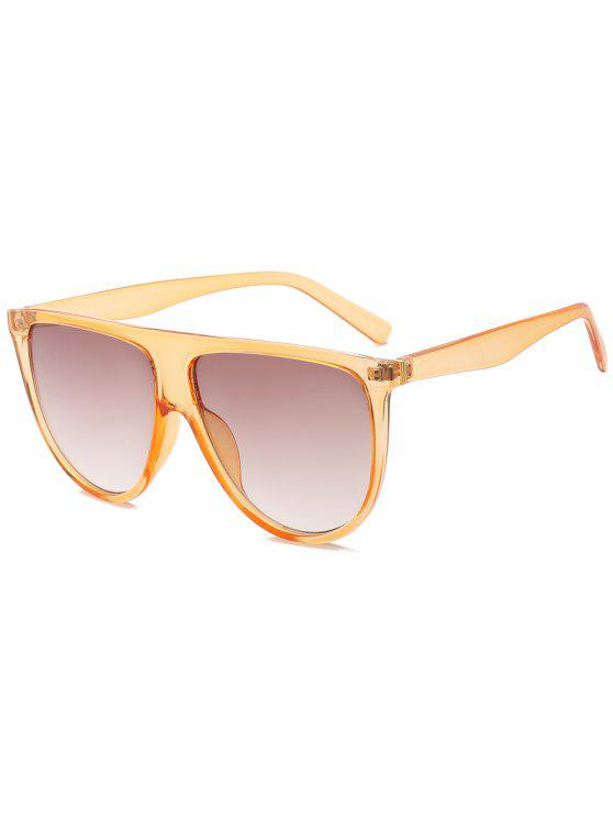 shops Attached Frame Anti UV Wide Sunglasses - YELLOW