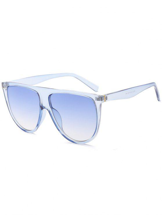 latest Attached Frame Anti UV Wide Sunglasses - LIGHT BLUE