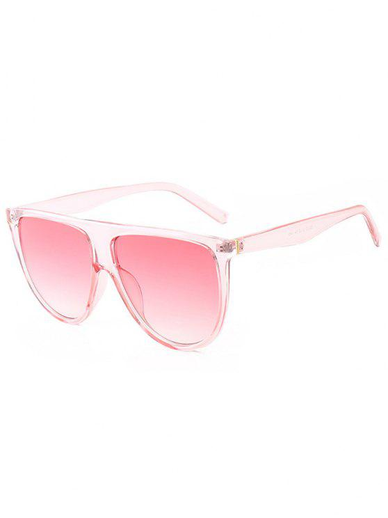 chic Attached Frame Anti UV Wide Sunglasses - PINK