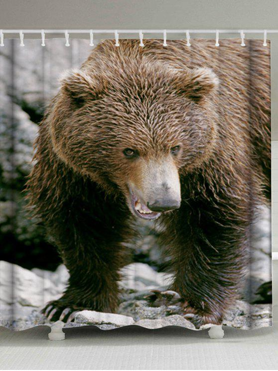 الدب نسيج الحيوان دش الستار حمام ديكور - BROWN W71 بوصة * L79 بوصة