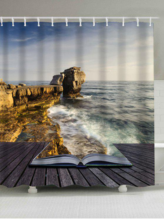 Ocean Scene Waterproof Shower Curtain