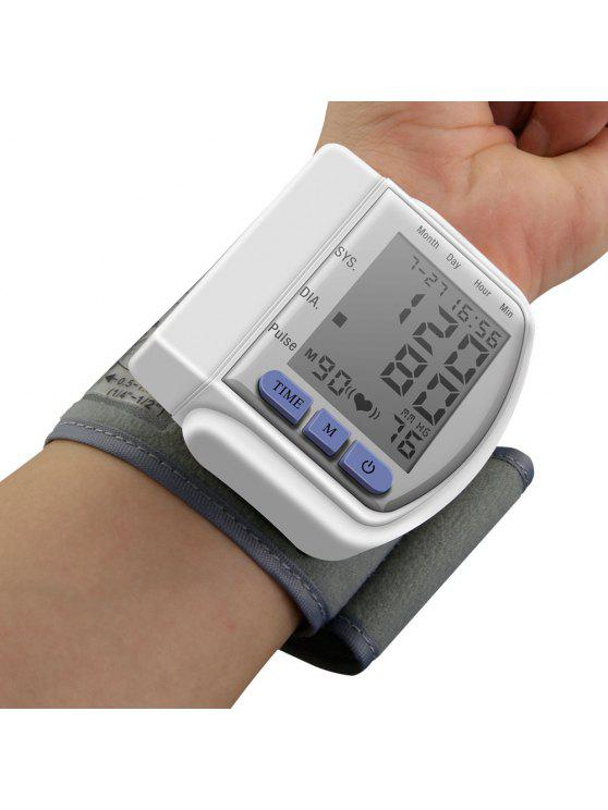 buy Portable Household Digital LCD Wrist Blood Pressure Monitor - WHITE