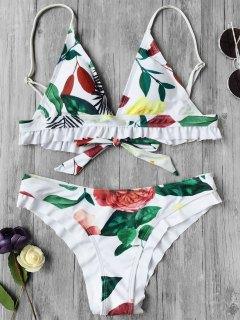 Bañador De Plumas Florales - Blanco M