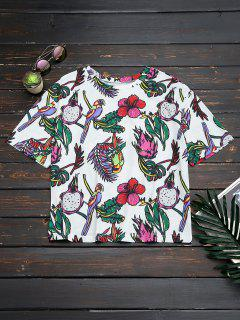 Oversized Bird Floral Top - Floral S
