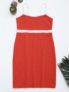 Two Tone Bodycon Slip Mini Dress - Jacinth M