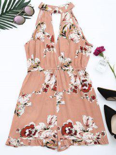 Cuello Alto Con Estampado De Flores - Floral S