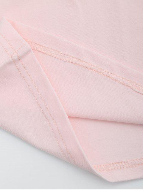 online Cotton Color Block Cropped Tank Top - PINK S Mobile