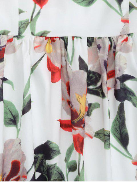 chic Back Zipper Straps Floral Mini Dress - FLORAL M Mobile