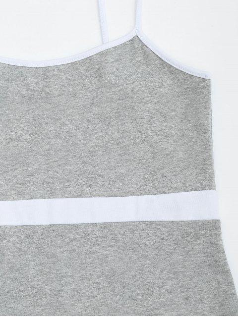 Robe miniature à deux tons Bodycon Slip - Gris M Mobile