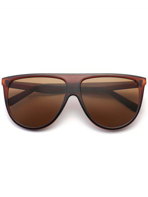 outfits Attached Frame Anti UV Wide Sunglasses - TEA-COLORED  Mobile