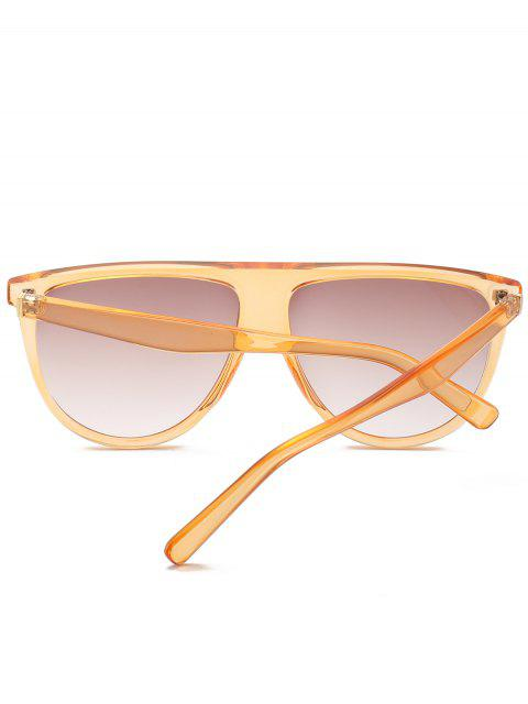 shops Attached Frame Anti UV Wide Sunglasses - YELLOW  Mobile