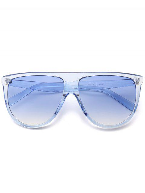 latest Attached Frame Anti UV Wide Sunglasses - LIGHT BLUE  Mobile