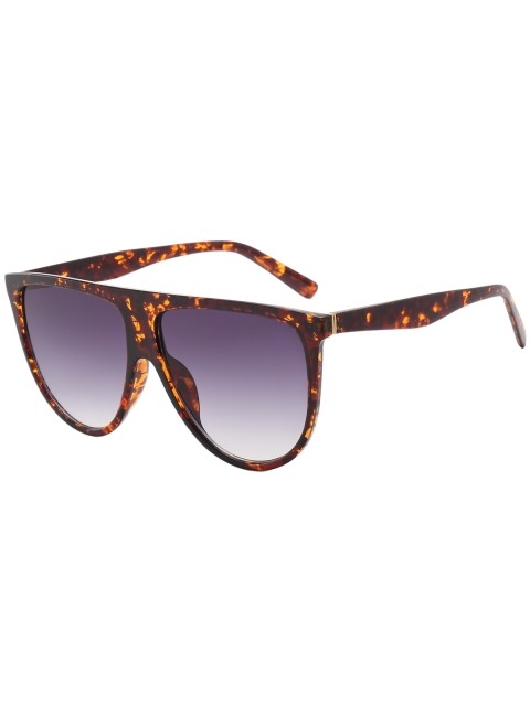 fashion Attached Frame Anti UV Wide Sunglasses - AMBER  Mobile
