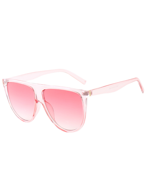 chic Attached Frame Anti UV Wide Sunglasses - PINK  Mobile