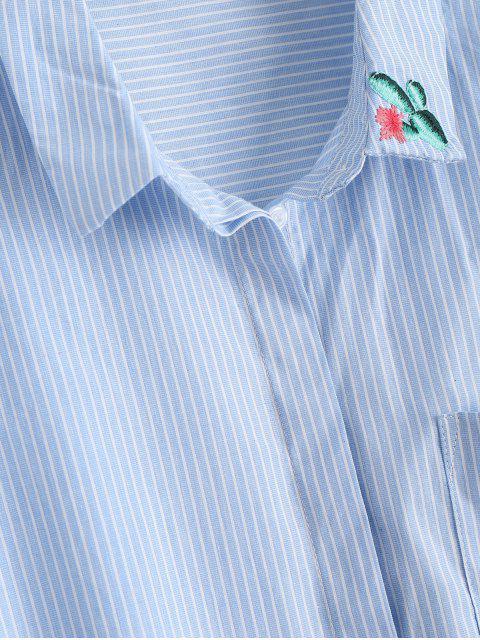 Chemise à rayures brodées Pocket Cactus - Rayure L Mobile