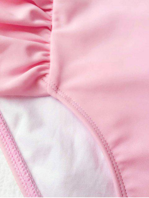 sale Ruffles Girls One Piece Swimwear - PINK 3T Mobile