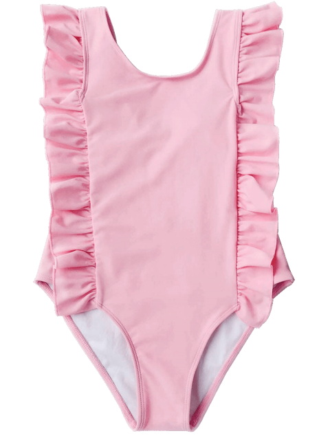 womens Ruffles Girls One Piece Swimwear - PINK 6T Mobile