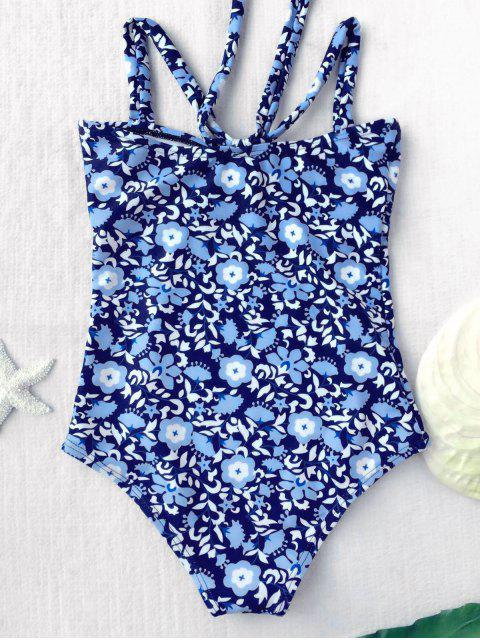 fancy Tiny Floral Cutout Bowknot Swimwear - FLORAL 5T Mobile