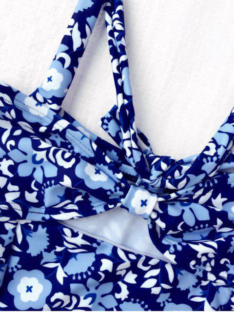 unique Tiny Floral Cutout Bowknot Swimwear - FLORAL 6T Mobile