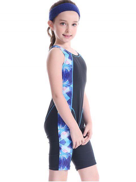 trendy Patterned Cut Out Snorkeling Swimwear - BLACK 8T Mobile