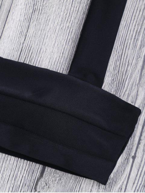 fashion Bandeau Padded Bikini Top and Bottoms - BLACK M Mobile