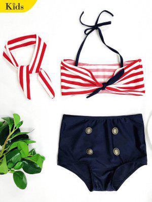 High Waisted Bandeau Bikini With Headband
