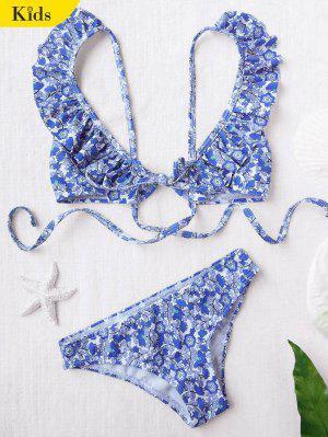 Bikini floral con volantes