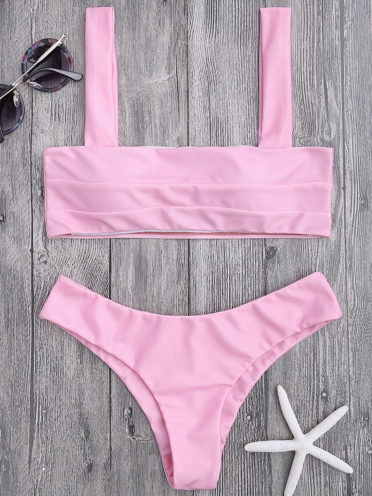 Bandeau Padded Bikini Top and Bottoms фото