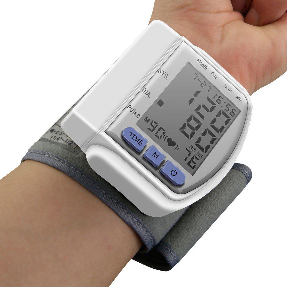 Portable Household Digital LCD Wrist Blood Pressure Monitor