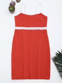 Two Tone Bodycon Slip Mini Dress - Jacinth S