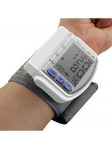 المحمولة المنزلية الرقمية لد المعصم مراقبة ضغط الدم - أبيض