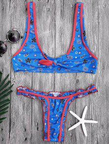 Ensemble De Bikini Bleu Avec Nœud à Deux Boucles - Bleu M