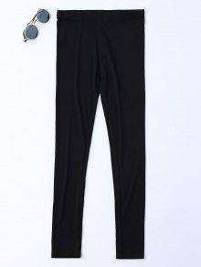 Leggings Elásticos Elásticos De La Cintura Elásticos - Negro