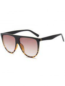 Attached Frame Anti UV Wide Sunglasses - Leopard