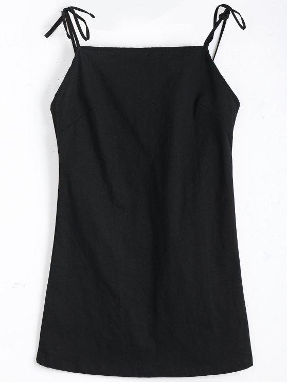 فستان متعادل حزام عارية الظهر مصغر - أسود S