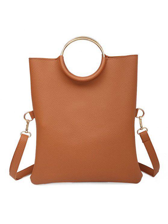 حلقة معدنية للتحويل حقيبة حمل - BROWN