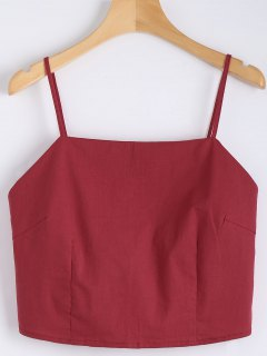 Cut Out Schleifedetail Crop Tank Top - Rot S